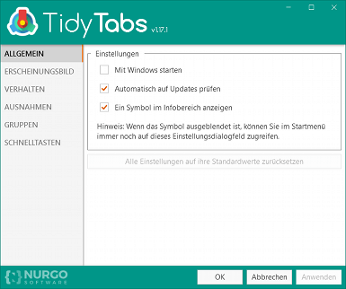 TidyTabs in German