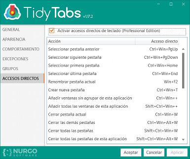 TidyTabs in Spanish